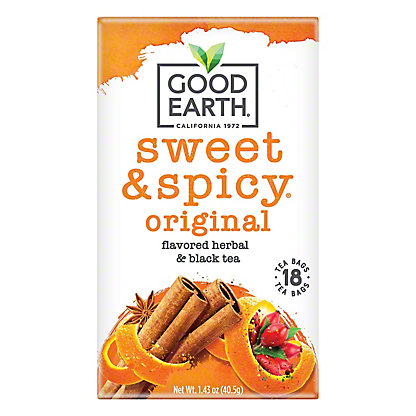 Good Earth Sweet and Spicy Herbal and Black Tea,18 CT