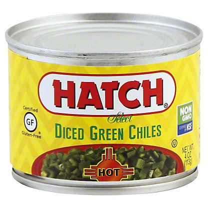 Hatch Diced Hot Green Chilies, 4 oz