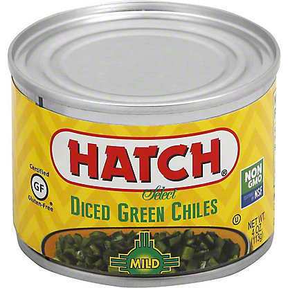 Hatch Diced Mild Green Chiles, 4 oz