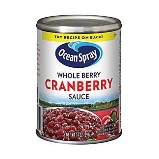 Ocean Spray Whole Berry Cranberry Sauce, 14 oz
