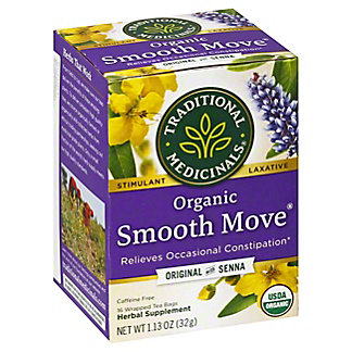 Traditional Medicinals Smooth Move Organic Caffeine Free Laxative Tea, 16 CNT