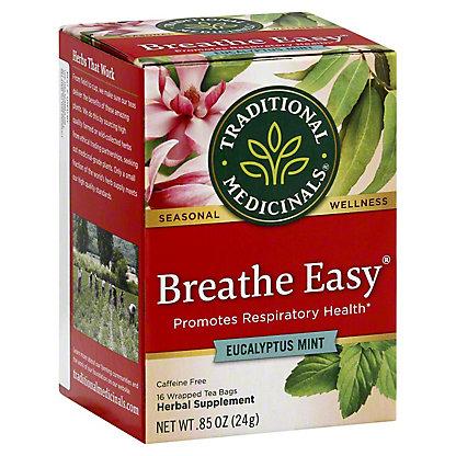 Traditional Medicinals Breathe Easy Caffeine Free Herbal Tea, 16 ct