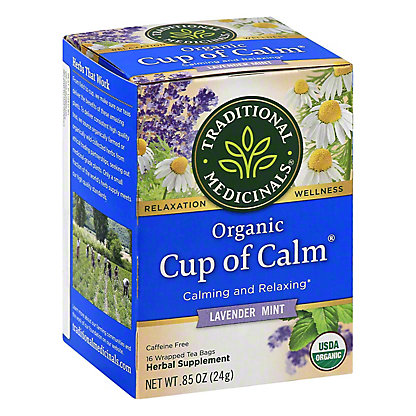 Traditional Medicinals Organic Easy Now Caffeine Free Herbal Tea, 16 ct