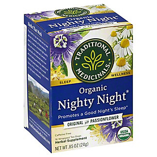 Traditional Medicinals Organic Nighty Night Caffeine Free Herbal Tea, 16 ct