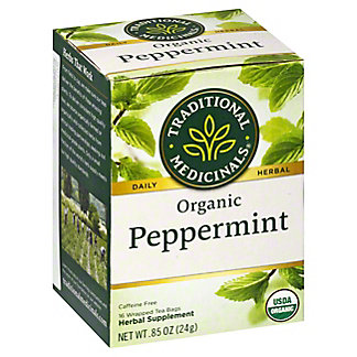 Traditional Medicinals Organic Peppermint Herbal Tea, 16 ct