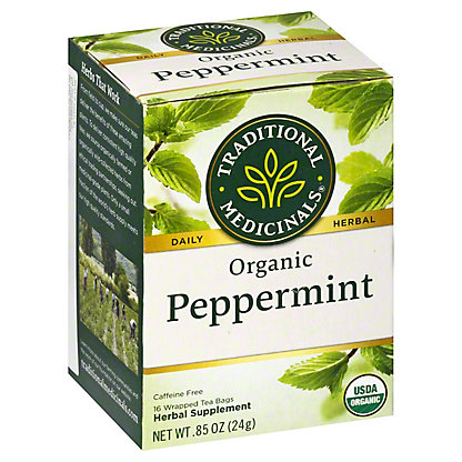 Traditional Medicinals Organic Peppermint Herbal Tea, 16 ct