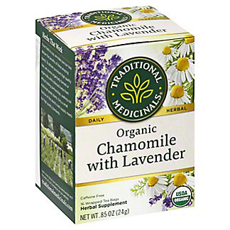Traditional Medicinals Organic Chamomile with Lavender Herbal Tea, 16 ct