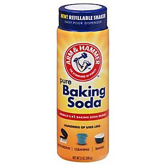 Arm & Hammer Pure Baking Soda Shaker Bottle, 12 oz