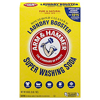 Arm & Hammer Detergent Booster and Household Cleaner Super Washing Soda,55.00 oz