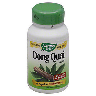 Natures Way Dong Quai Root 565 mg Capsules, 100.00 ea
