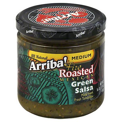 Arriba! Fire Roasted Mexican Green Medium Salsa,16 OZ