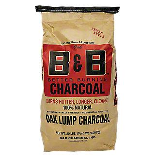 B & B Texas Style Oak Lump Charcoal, 20 LBS