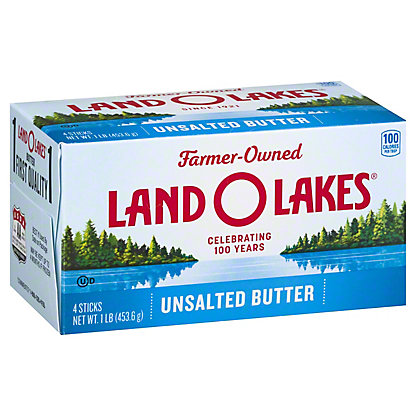 Land O Lakes Unsalted Sweet Butter Quarters, 16 oz