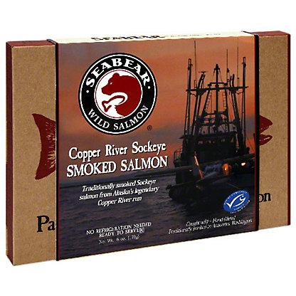 SeaBear Wild Copper River Sockeye Smoked Salmon, 6.00 oz