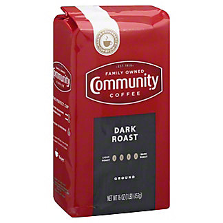 Community Coffee Dark Roast Ground Coffee, 12 oz