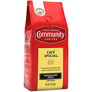 Community Coffee Cafe Special Med-Dark Roast Ground Coffee, 12 oz