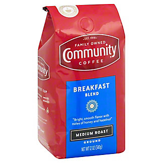 Community Coffee Breakfast Blend Medium Roast Ground Coffee, 12 oz