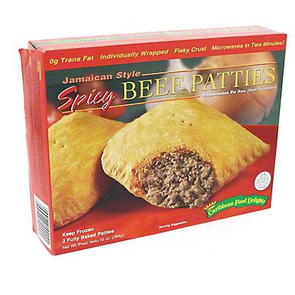 Carribean Food Delights Spicy Beef Patties,9 OZ