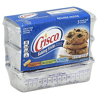 Crisco All-Vegetable Shortening Baking Sticks,20 OZ