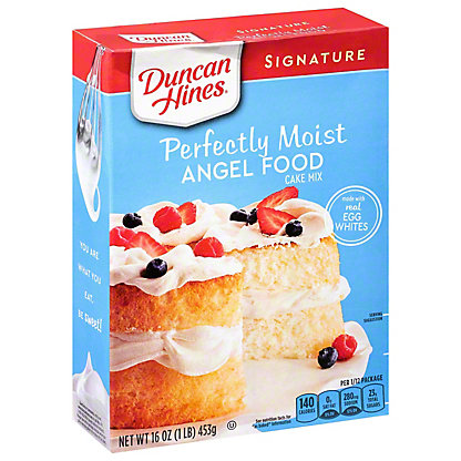 Duncan Hines Signature Angel Food Cake Mix, 16 oz