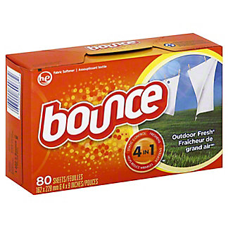 Bounce Outdoor Fresh Fabric Softener Dryer Sheets, 80 ct