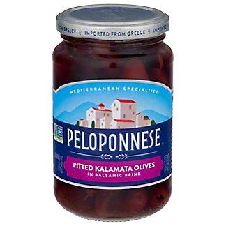 Peloponnese Gourmet Black Pitted Kalamata Olives, 6 oz