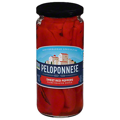 Peloponnese Whole Roasted Florina Sweet Peppers, 13 oz