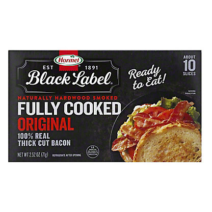 Hormel Black Label Fully Cooked Bacon, 2.52 oz