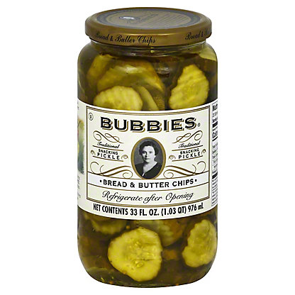 Bubbies Bread & Butter Chips Pickles,33 oz
