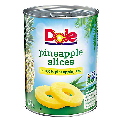 Dole Pineapple Slices, 20 oz