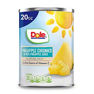 Dole Pineapple Chunks, 20 oz