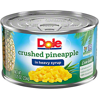 Dole Crushed Pineapple in Heavy Syrup, 8.25 oz