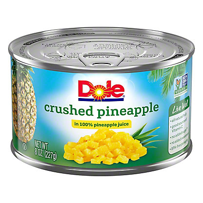 Dole Crushed Pineapple in 100% Juice, 8 oz