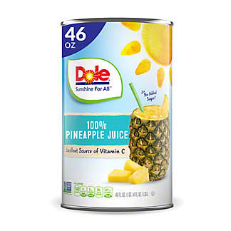 Dole Pineapple Juice, 46 oz