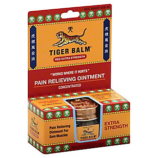 Tiger Balm Red Extra Strength Pain Relieving Ointment Concentrated, .63 oz
