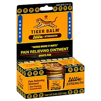 Tiger Balm Ultra Strength Pain Relieving Ointment Concentrated Sports Rub,.63 OZ