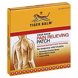 Tiger Balm Warm Pain Relieving Patch,5 CT