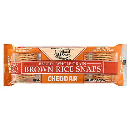 Edward & Sons Cheddar Brown Rice Snaps, 3.5 OZ