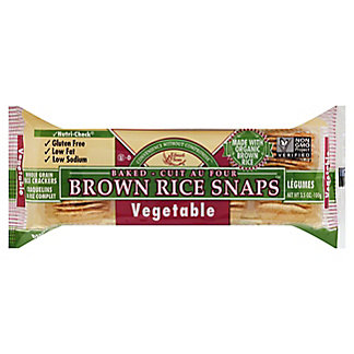 Edward & Sons Edward & Sons Vegetable Brown Rice Snaps,3.5 oz