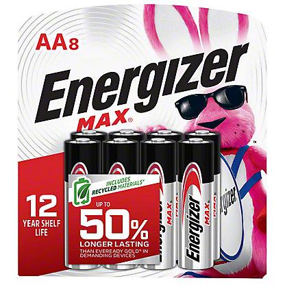 Energizer Max Alkaline AA Batteries, 8 pk