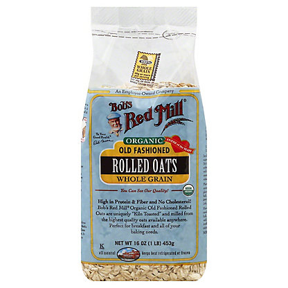 Bob's Red Mill Organic Whole Grain Old Fashioned Rolled Oats, 16 OZ