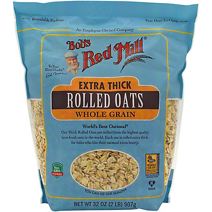 Bob's Red Mill Extra Thick Whole Grain Rolled Oats, 32 oz