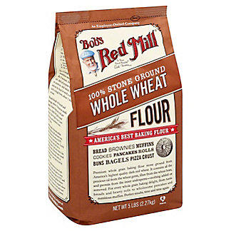 Bob's Red Mill Whole Wheat 100% Stone Ground Flour,5 LB