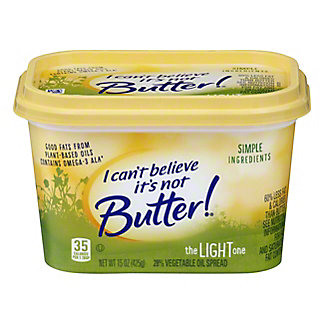 I Can't Believe Its Not Butter Light Vegetable Oil Spread,15 oz