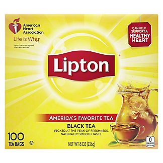 Lipton Black Tea Bags America's Favorite Tea, 100 ea