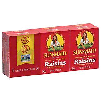 Sun-Maid Natural California Raisins,6/1 OZ