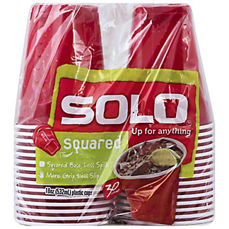 Solo Squared Polypropylene Plastic Cups 30 CT,18 OZ