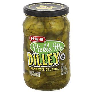 H-E-B Hamburger Dill Pickle Chips, 24 oz