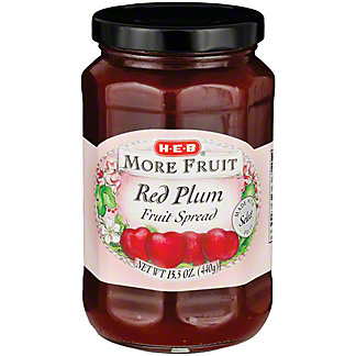H-E-B More Fruit Red Plum Fruit Spread,15.5 OZ