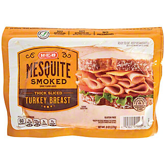 H-E-B Mequite Smoked Turkey Breasts Slices,10 OZ